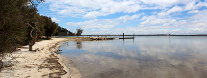 Panorama Boat ramp   Peel Inlet West Australia Royalty Free Stock Photo