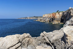 Panorama of Boca do Inferno, Cascais, Portugal. Boca do Inferno Hell's Mouth, Cascais, Portugal Stock Photos