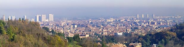 Panorama of Bologna royalty free stock photo