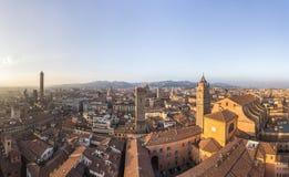 Panorama Bologna, Włochy Obrazy Stock
