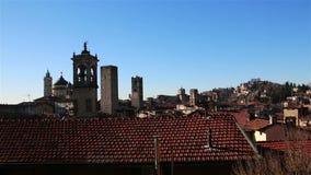 Panorama bonito de Bergamo velho, Itália video estoque