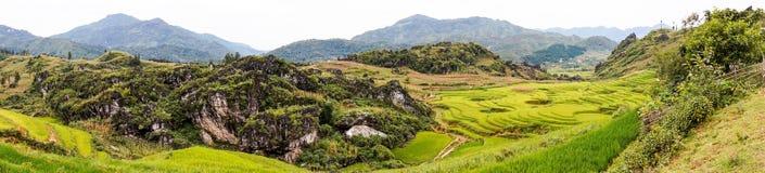 Panorama bonito em Pa do Sa, Vietname Fotografia de Stock Royalty Free