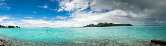Panorama of  Bora Bora French Polynesia Stock Photos