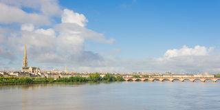 Panorama of Bordeaux Royalty Free Stock Image