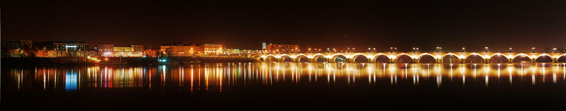 Panorama of Bordeaux Pierre bridge Royalty Free Stock Images
