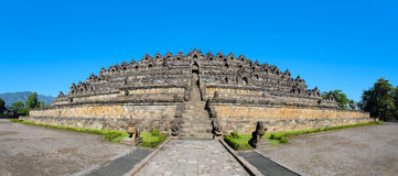Panorama Borobudur temple complex, Yogyakarta, Indonesia. Panorama Buddist temple Borobudur complex in Yogyakarta in Java, Indonesia Stock Photos