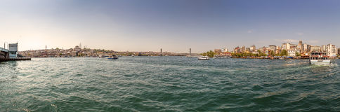 Panorama of  Bosphorus...  Istanbul Stock Image