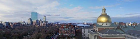 panorama boston zdjęcia royalty free
