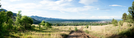 Panorama of Boulder Stock Image