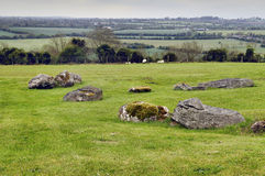 Panorama Boyne Valley near Knowth Stock Image