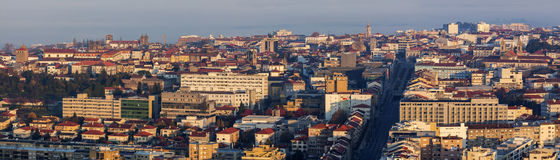 Panorama of Braga at sunrise Stock Photography