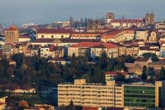 Panorama of Braga at sunrise Royalty Free Stock Photo
