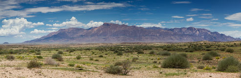 Panorama of Brandberg mountain range Stock Image