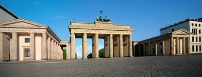 Panorama of Brandenburg Gate in Berlin Stock Images