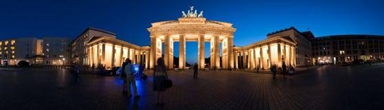 Panorama Brandenburg Gate at night V1. Germany Berlin Panorama Brandenburg Gate at night Royalty Free Stock Images
