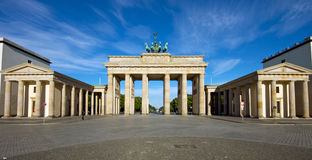 Panorama of the Brandenburger Tor. In Berlin royalty free stock image