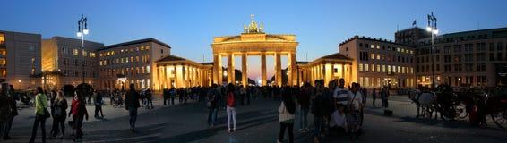 Panorama: Brandenburger Tor Stockfotografie