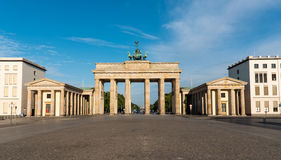 Panorama of the Brandenburger Tor Royalty Free Stock Photo