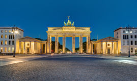 Panorama of the Brandenburger Tor in Berlin stock photo