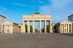 Panorama of the Brandenburger Tor stock image