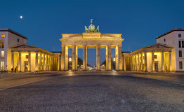 Panorama of the Brandenburger Tor at night royalty free stock image