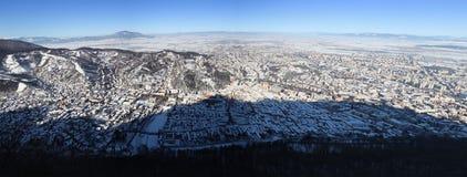 Panorama of Brasov city Stock Photo