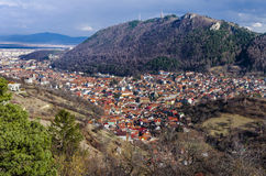 Panorama of Brasov, Romania stock photo