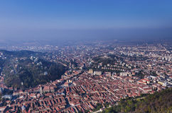 Panorama of Brasov, Romania royalty free stock photography