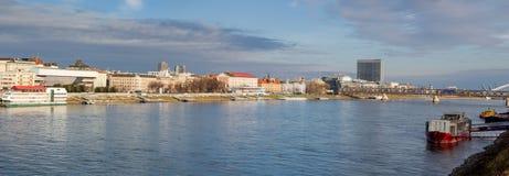 Panorama of Bratislava, capital of Slovakia Stock Image