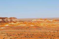 Panorama of the Breakaways mountains, South Australia Stock Photography