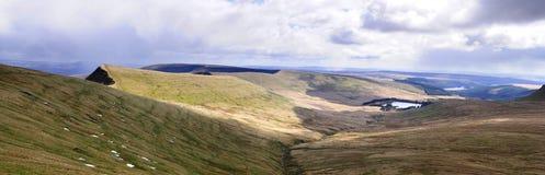 Panorama- Brecon Arkivbild