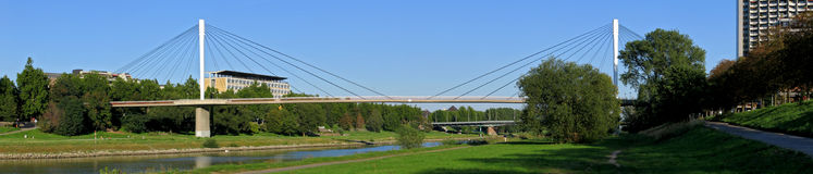 Panorama bridge. River Royalty Free Stock Photography