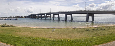 Panorama of bridge leading to Phillip Island Royalty Free Stock Images
