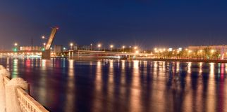 Panorama of the bridge of a name of Volodarsky Stock Image