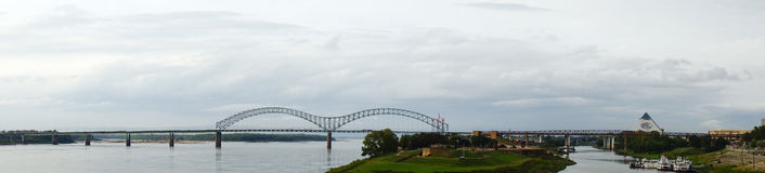 Panorama of a bridge Stock Image