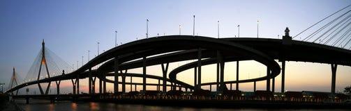 Panorama Bridge in Thailand. Industrial Circle Bridge in Bangkok, Thailand Stock Photos
