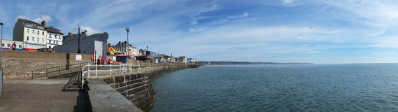 Panorama of Bridlington seafront. Stock Image
