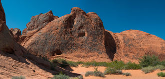 Panorama of bright rocks in Fire Valley, USA Royalty Free Stock Photography