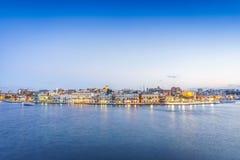 Panorama of Brindisi, Puglia, Italy. Panorama of Brindisi in the late afternoon, Puglia, Italy royalty free stock photos