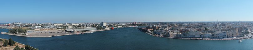 Panorama of Brindisi, with view of the port Royalty Free Stock Image