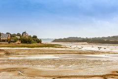Panorama of Brittany coastline, France Stock Images