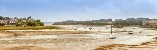 Panorama of Brittany coastline, France Royalty Free Stock Images