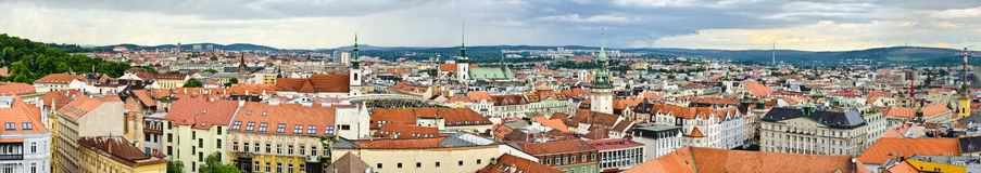 Panorama of Brno, Czech Republic Royalty Free Stock Images