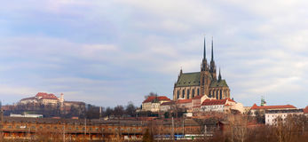 Panorama of Brno old city in Czech Republic Stock Image