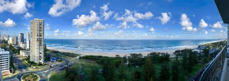 Panorama from Broadbeach in Queensland royalty free stock photos