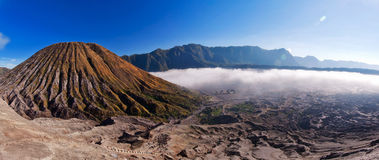 Panorama of Bromo Tengger Semeru National park Stock Photos