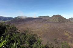 Panorama of Bromo volcano at sunrise, East Java, Indonesia Royalty Free Stock Photos