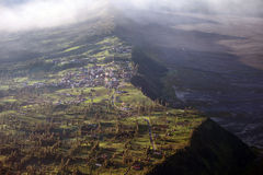 Panorama of Bromo volcano at sunrise, East Java, Indonesia Royalty Free Stock Photography