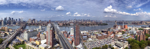 Panorama of Brooklyn, Manhattan and Queens. Aerial Panorama of Brooklyn, Manhattan and Queens Royalty Free Stock Images