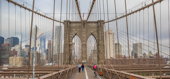 Panorama of Brookyn Bridge in New York Royalty Free Stock Photos